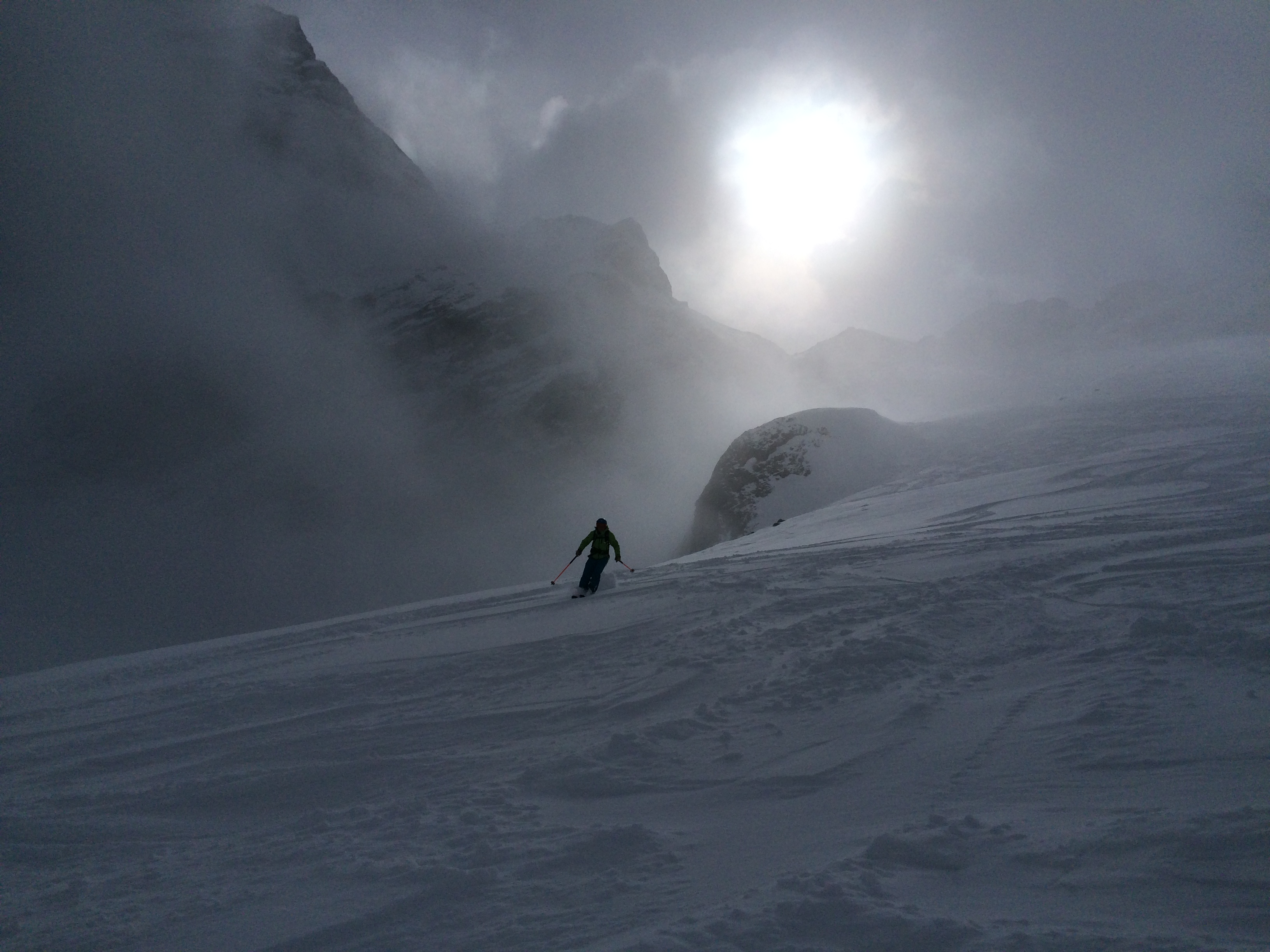 Skiing off piste in the magical place of La Grave